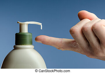 Lotion - image of a hand getting lotion