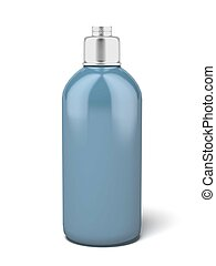 Lotion metal Bottle isolated on a white background. 3d ...