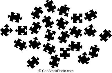 lotissements, morceaux puzzle