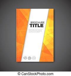 lotnik, abstrakcyjny, nowoczesny, /, wektor, projektować, szablon, broszura, książka