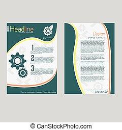lotnik, abstrakcyjny, wektor, projektować, szablon, broszura