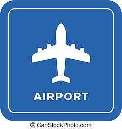 lotnisko, droga znaczą