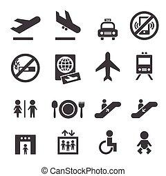 lotnisko, ikony