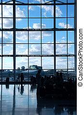 lotnisko, ludzie