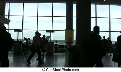 lotnisko, sound., hala, ludzie