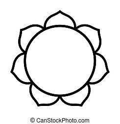 loto, budista, flor