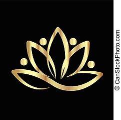 loto, ioga, logotipo