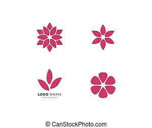 loto, logotipo, fiori