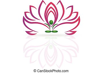 loto, logotipo, flor, Ioga