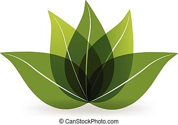 loto, logotipo, verde