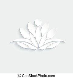 loto, pessoa, planta, logotipo