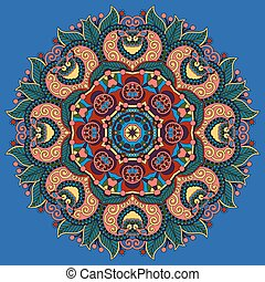 loto, símbolo, indianas, flor