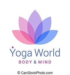 loto, simbolo, fiore, yoga