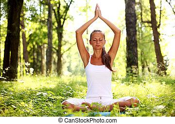 loto, yoga, alba