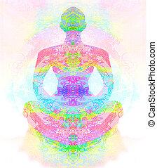 loto, yoga, pose.