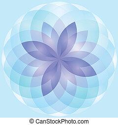 lotos, abstrakcyjny, kwiat, tło