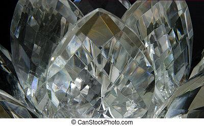 lotos, kristall, -, töne, pastell