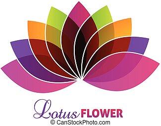lotos, logo, blume, lila