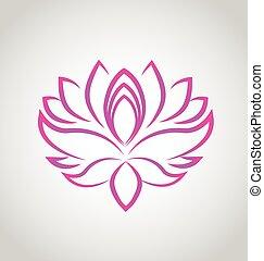 lotos, logo, blume, vektor