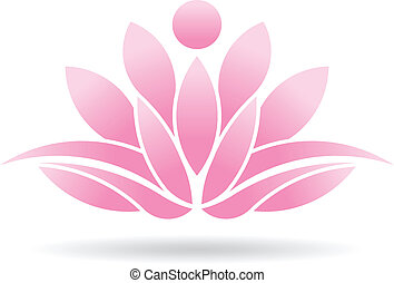lotos, osoba, logo