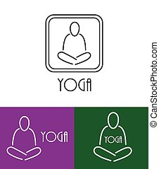 lotos, symbol, vektor, joga