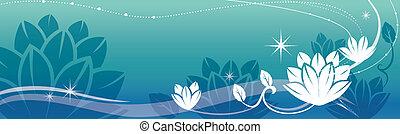 lotos, und, reben