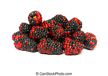 Lots of berries isolated on the white background
