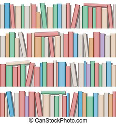 Lots of Books on Shelf