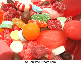 lots of candy - assortment of candy closeup
