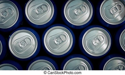 Lots Of Cans Rotating