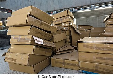 lots of cardboard boxes