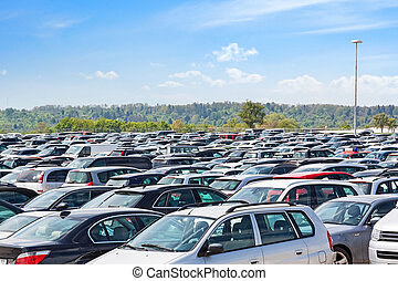 Lots of cars parking