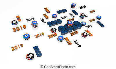 Lots of Casino Poker 2019 Designs with several Chips