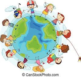 Lots of children around the world