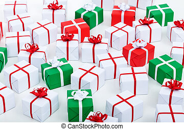 Lots of Christmas presents background