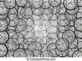 Lots of clocks - time background
