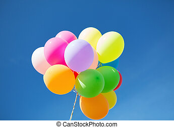 lots of colorful balloons in the sky - balloons and...
