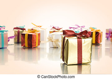 Lots of colorful gift boxes