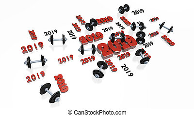 Lots of Dumbbell 2019 Designs with several Dumbbells on a...