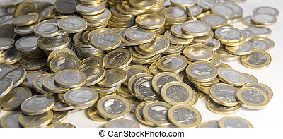 lots of euro coins