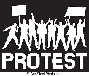 lots of furious people protesting (a group of people protesting, protest, demonstrator, protest man, demonstrations, protest, demonstrator, hooligan, fan, protest design, protest poster)