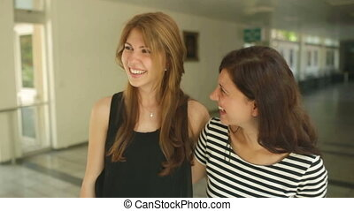 Lots of Laugh - Two girl friends trilling with laughter