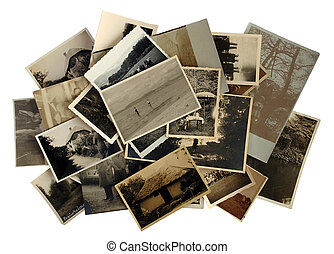 Lots of old black-and-white photos - Many old...