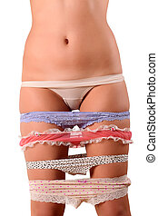 lots of panties - The girls hips and legs with a lot of...