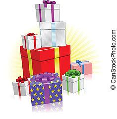 Lots of presents concept