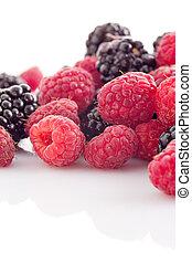raspberry and blackberry