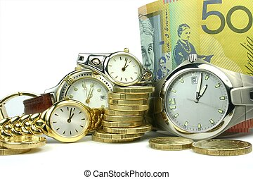 Lots of Time & Money - Conceptual image of lots of 'time and...