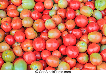 lots of tomatoes in the store