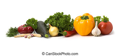 Lots of vegetables isolated