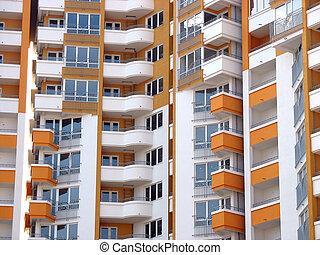 modern apartment skyscraper house